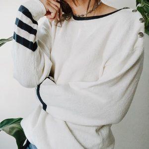10a68b8977d6f8 VINTAGE • oversized Striped varsity sweater